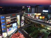 Tachikawa no crepúsculo, Tokyo, Japão fotografia de stock royalty free