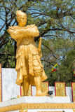 Tachileik, Myanmar - Feb 26 2015: Statue of King Bayint Naung(Ba. Yinnaung).  He was king of Toungoo Dynasty of Burma Royalty Free Stock Images