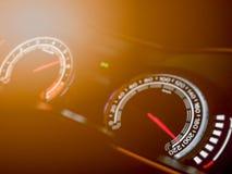 Tachimetro astratto dell'automobile Immagine Stock