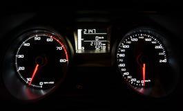 Tachimetro dell'automobile della luce al neon Immagine Stock Libera da Diritti