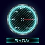 Tachimetro 2019 nuovi anni illustrazione di stock