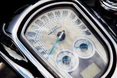 Tachimetro retro sul motociclo Immagine Stock Libera da Diritti