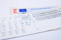 Tachograph print Stock Photos