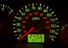Tachometer. Close up of the tachometer Royalty Free Stock Photos