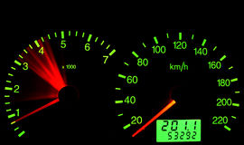 tachometer royaltyfri illustrationer