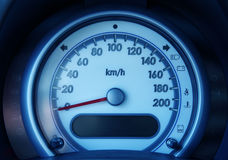 Tachometer. Detail of tachometer in the car Stock Photos