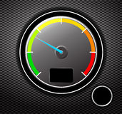 Tachometer. Speedometer with black background. Vector illustration Stock Photo