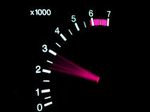 Tachometer. Speed tachometer with arov in use Stock Photography