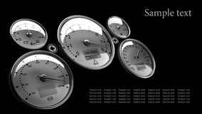 Tachometer  3D render Stock Photo