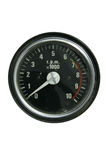 Tachometer. Black motorcycle or car tachometer Stock Photo