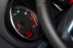 Tachometer. Dashboar - Tachometer of a sports car Royalty Free Stock Photography