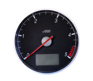 Tachometer. Isolated on white, with clipping path Royalty Free Stock Photos