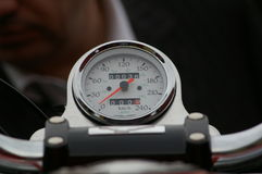 Tachometer. Bike tachometer royalty free stock images