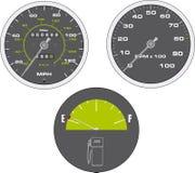 Tachometer And Speedometer Stock Image