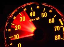 Tachometer bei der Arbeit Lizenzfreie Stockfotografie