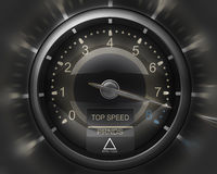 Tachometer black 3D Royalty Free Stock Image