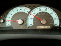 Tachometer in a car Royalty Free Stock Photo