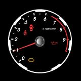Tachometer car Royalty Free Stock Image
