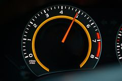 Tachometer car dashboard Royalty Free Stock Photos