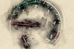 Tachometer car Stock Photo