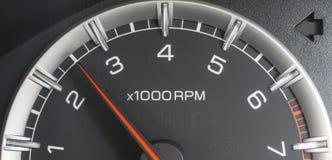 Tachometer close up. Rev counter of a car Stock Image