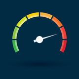 Tachometer with color values Stock Image