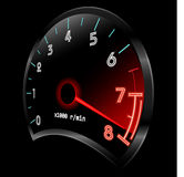 Tachometer 3D (revolution-counter , RPM gauge). Vector Stock Photo