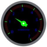 Tachometer dashboard device Stock Photo