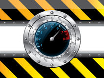 Tachometer design with industrial elements Stock Photography
