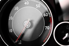 Tachometer detail Royalty Free Stock Images