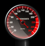 Tachometer-like Sphygmomanometer on black Stock Image