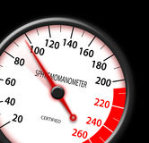Tachometer-like sphygmomanometer Stock Photos