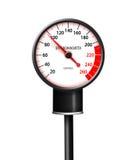 Tachometer-like sphygmomanometer  Royalty Free Stock Image