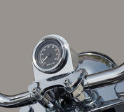 Tachometer of motorbike. Detail of motorbike tachometer isolated Stock Photos