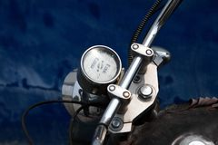 Tachometer  of motorcycle Stock Photo