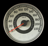 Tachometer oder Geschwindigkeitsmesser Stockfoto