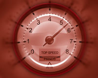 Tachometer red 3D Royalty Free Stock Photography