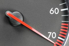 Tachometer in red sphere Royalty Free Stock Photos