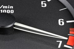 Tachometer in red sphere Royalty Free Stock Photo