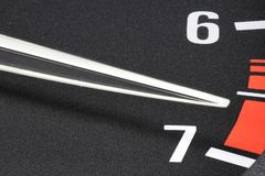 Tachometer in red sphere Royalty Free Stock Images
