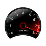 Tachometer (revolution-counter , RPM gauge). Vector Royalty Free Stock Photo