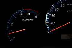 Tachometer revving Stock Images