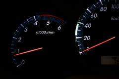 Tachometer revving Stock Images