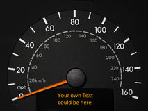 Tachometer with room for text Royalty Free Stock Photos