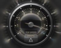 Tachometer schwarzes 3D Lizenzfreies Stockbild