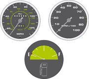 tachometer and speedometer Stock Image