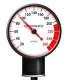 Tachometer style Sphygmomanometer. Isolated on white background Stock Images