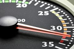 Tachometer. Of a truck in red sphere Royalty Free Stock Photography