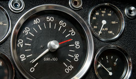 Tachometer, Thermometer and Manometer Royalty Free Stock Photos