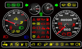 Tachometers and dashboard icons Royalty Free Stock Photo